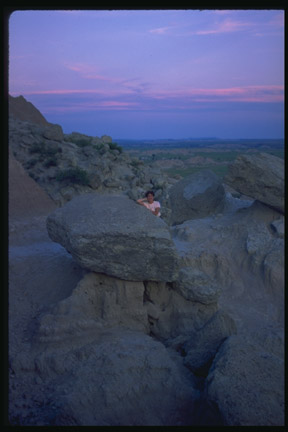 AN EVENING HIKE IN BADLANDS