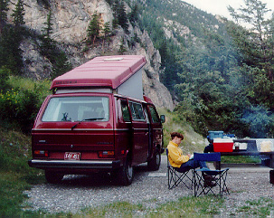1987 Red Vanagon and Bev